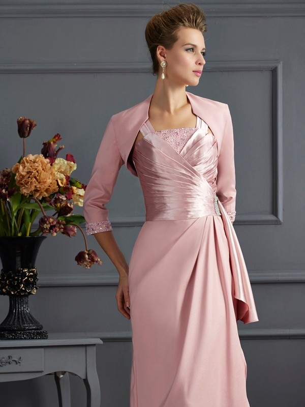 Stretch-Satin 3/4 Ärmel Special Occasion Fashion Wrap