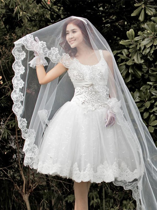 Gorgeous Tüll With Spitze Wedding Veils