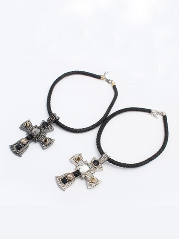 West Punk Retro Cross Mode Halsband