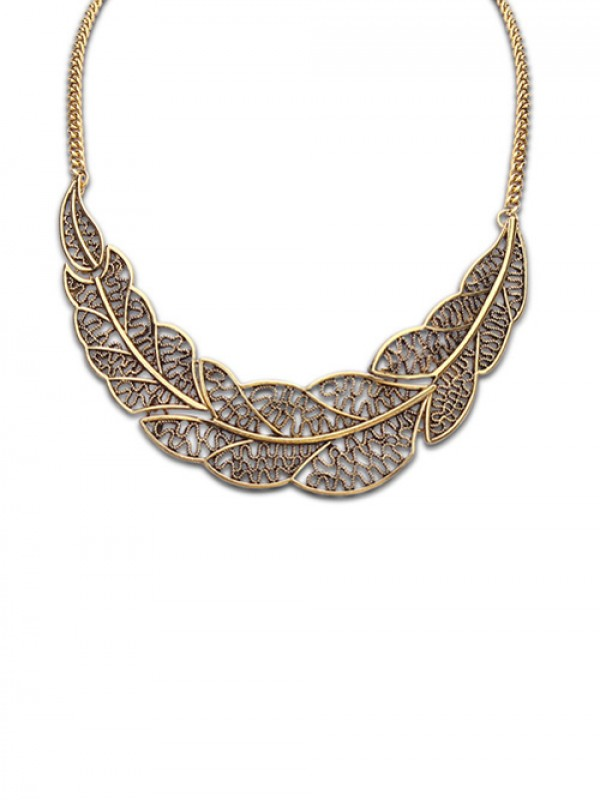 West Foreign Orders Einfach Hollow Tree Leaf Mode Halsband