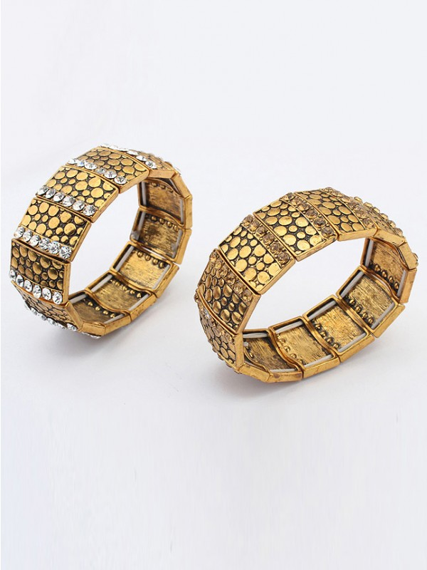 West Exotic Personality Wide version Elasticity Mode Bracelet