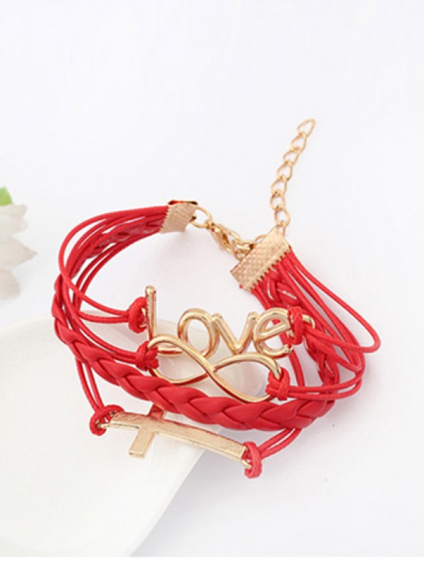 Korean version Romantic Password love Cross Mode Armband
